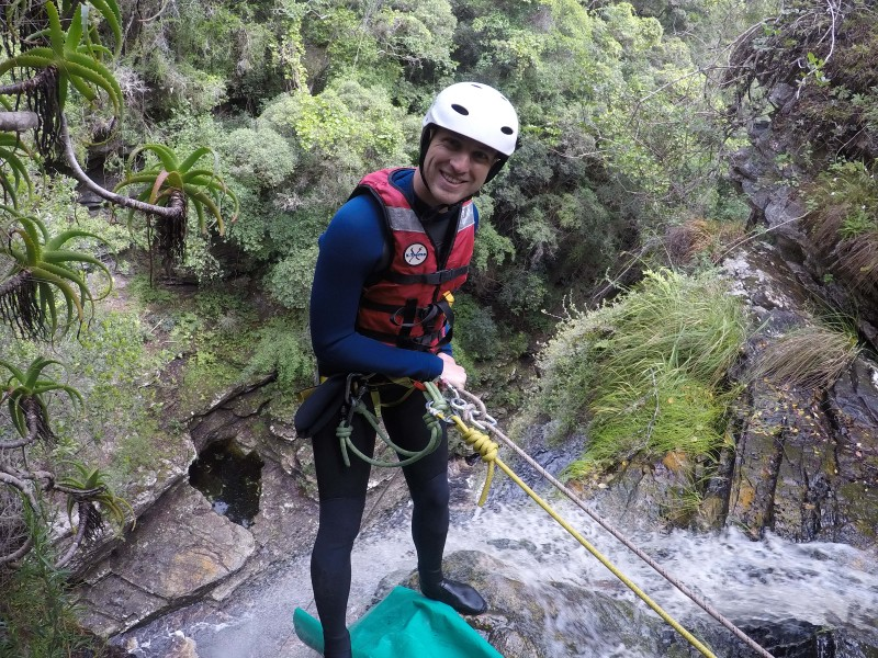Canyoning at Wilderness - Abseil route